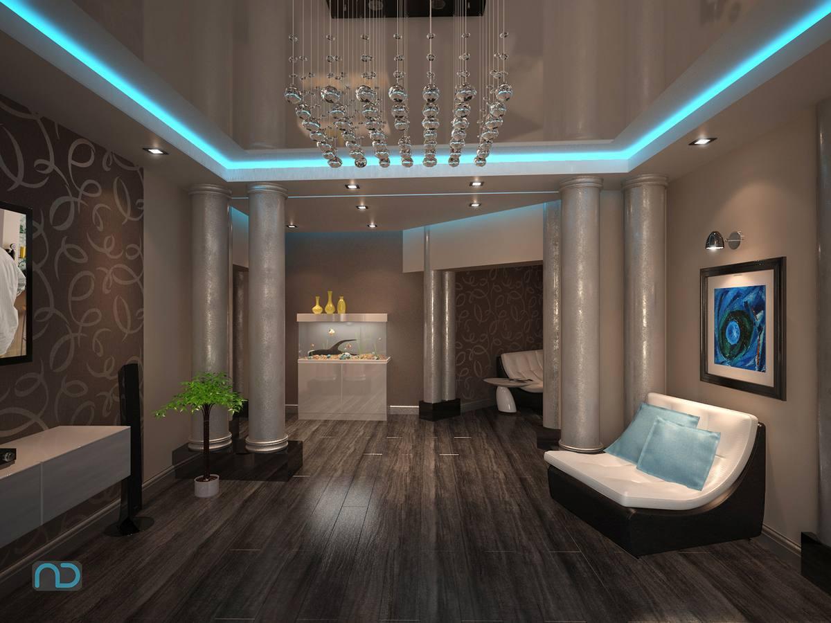 Гипсокартонный потолок с подсветкой Decor 4 House 55
